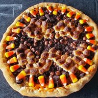 Halloween OREO Cheesecake Dessert Pizza 2020
